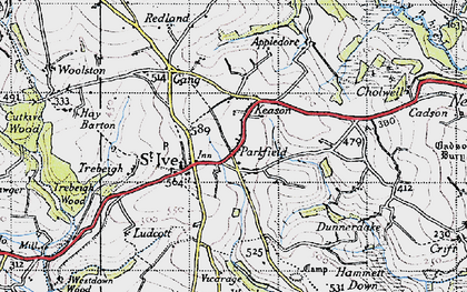 Old map of Parkfield in 1946
