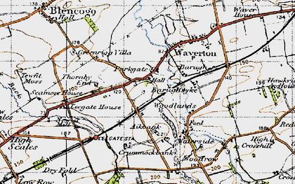 Old map of Aikbank in 1947