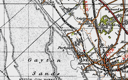 Old map of Parkgate in 1947