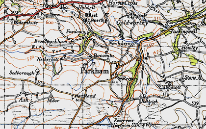 Old map of Parkham in 1946