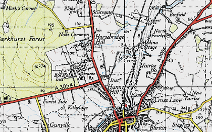 Old map of Albany Prison in 1945
