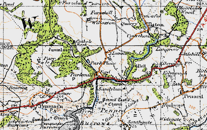 Old map of Parkmill in 1947