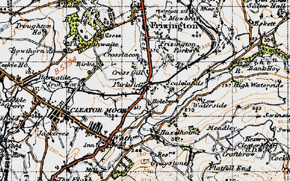 Old map of Lingla Beck in 1947