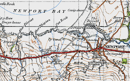 Old map of Aber Fforest in 1947