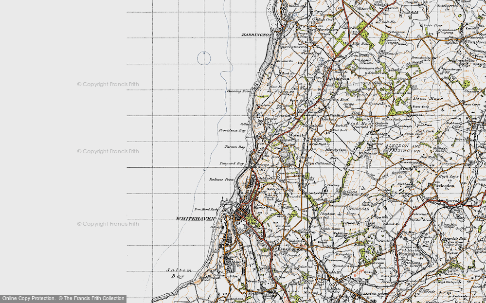 Old Map of Parton, 1947 in 1947