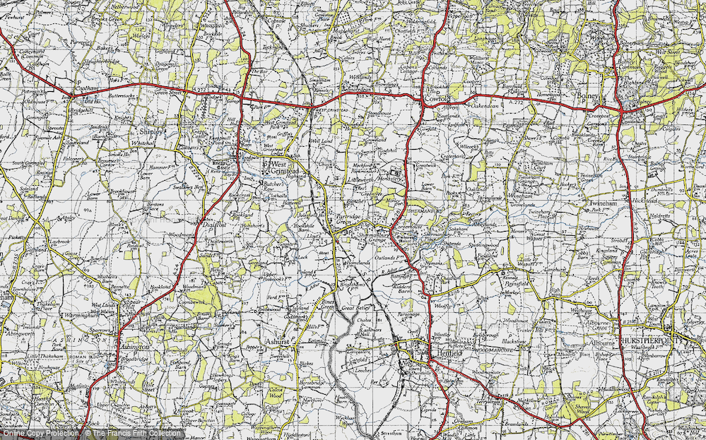 Old Map of Partridge Green, 1940 in 1940