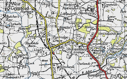 Old map of Partridge Green in 1940