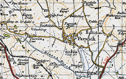 Old map of Parwich in 1947