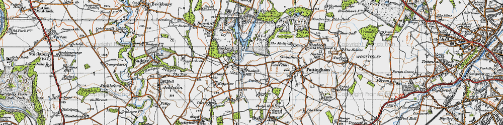 Old map of Wildicote in 1946