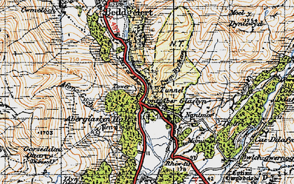 Old map of Aberglaslyn Hall in 1947