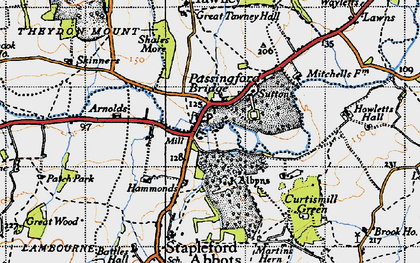 Old map of Albyns in 1946