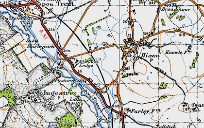 Old map of Abbots Bromley Cycle Way in 1946