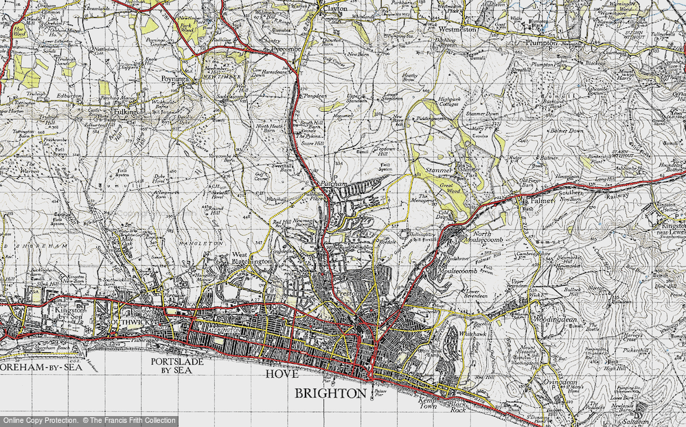 Old Map of Patcham, 1940 in 1940