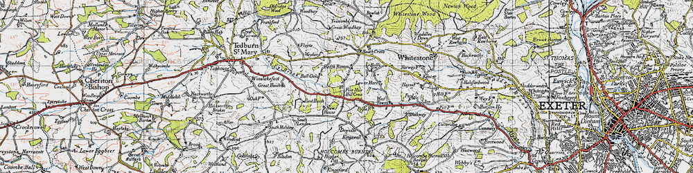 Old map of Woodlands in 1946