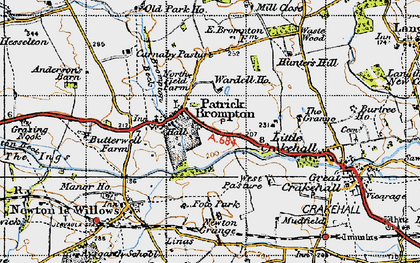 Old map of Patrick Brompton in 1947