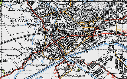 Old map of Patricroft in 1947