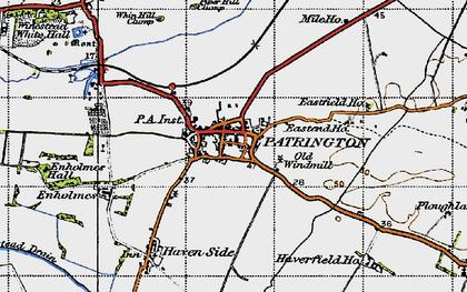 Old map of Patrington in 1947