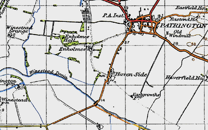 Old map of Winestead Drain in 1947