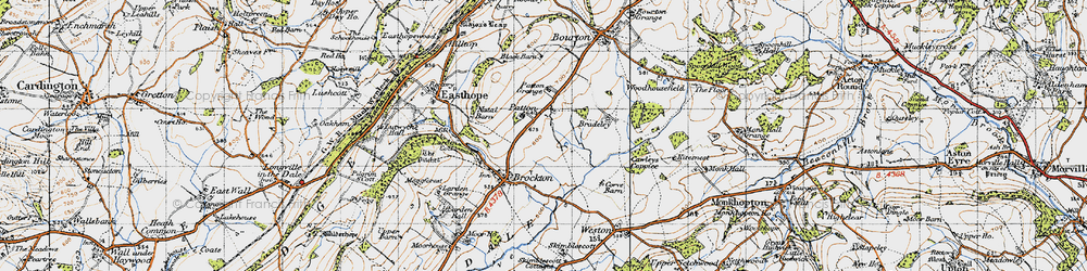 Old map of Larden Cott in 1947