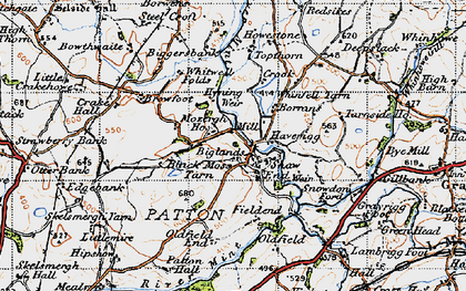 Old map of Whinfell Tarn in 1947