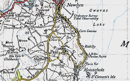Old map of Paul in 1946