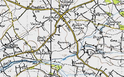 Old map of Paul's Green in 1946