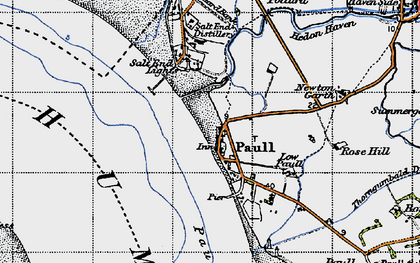 Old map of Paull in 1947