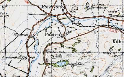 Old map of Whaup Moor in 1947