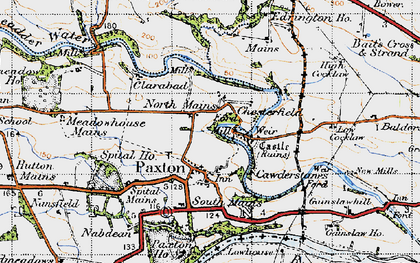 Old map of Baitsrand in 1947