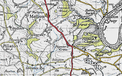 Old map of Paynter's Cross in 1946