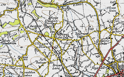 Old map of Paynter's Lane End in 1946
