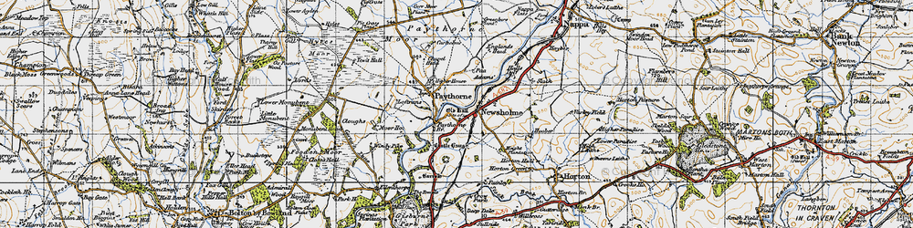 Old map of Windy Pike in 1947
