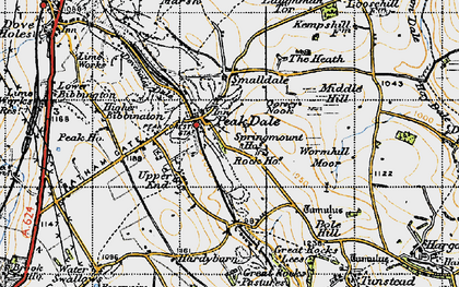Old map of Peak Dale in 1947