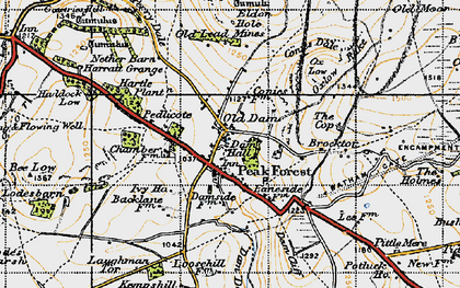 Old map of Peak Forest in 1947