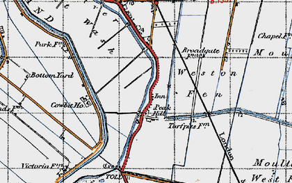 Old map of Weston Fen in 1946