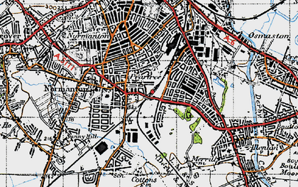 Old map of Pear Tree in 1946