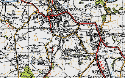 Old map of Peasehill in 1946