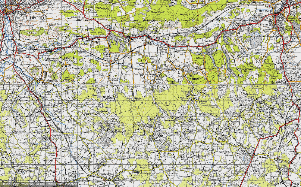 Old Map of Historic Map covering Alderbrook in 1940
