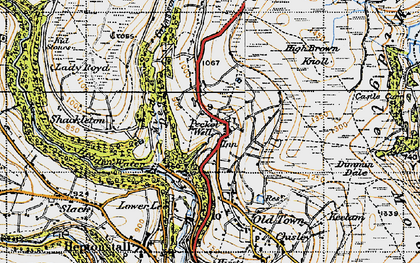 Old map of Winny Stone in 1947