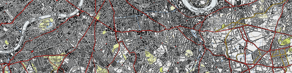 Old map of Peckham in 1946
