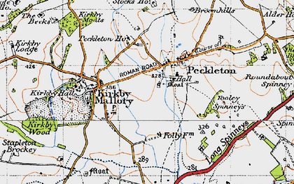 Old map of Tooley Spinneys in 1946