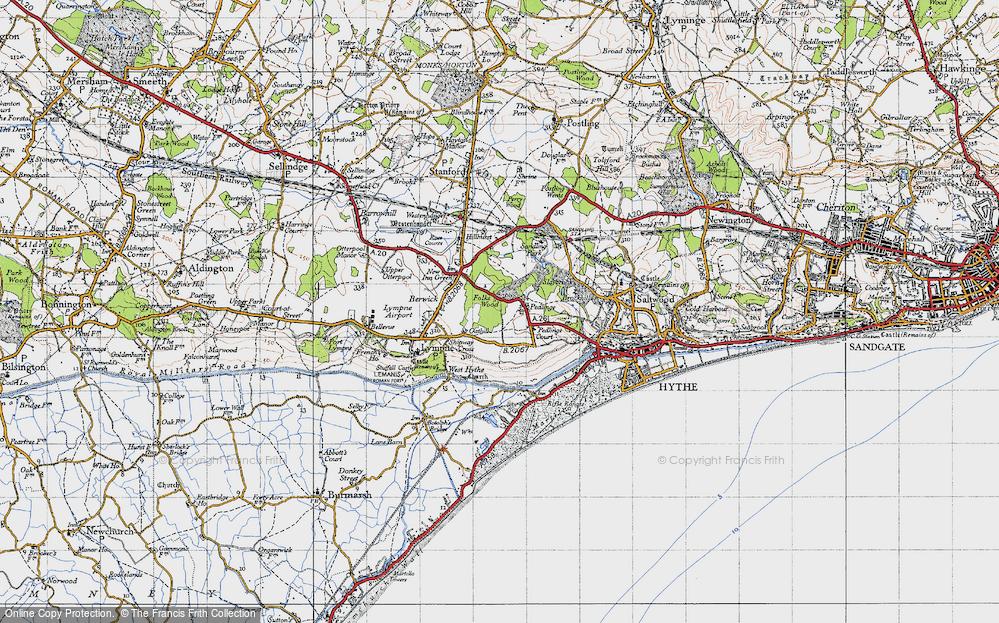 Old Map of Pedlinge, 1947 in 1947