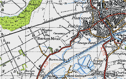 Old map of Peel Green in 1947