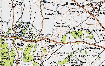 Old map of Tingley Wood in 1946
