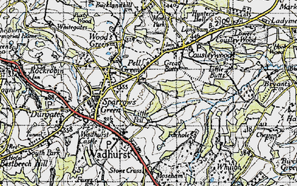 Old map of Pell Green in 1940