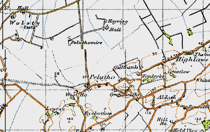 Old map of Balladoyle in 1947