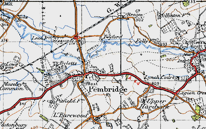 Old map of Pembridge in 1947