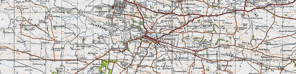 Old map of Pembroke in 1946
