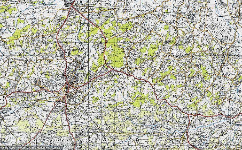 Old Map of Pembury, 1946 in 1946