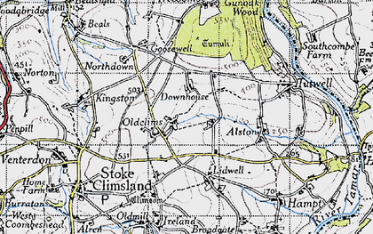 Old map of Lidwell in 1946